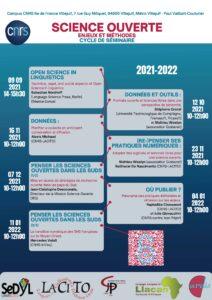 Cycle de séminaire Science ouverte @ Campus Île-de-France-Villejuif Salle de conférence RdC bâtiment D.